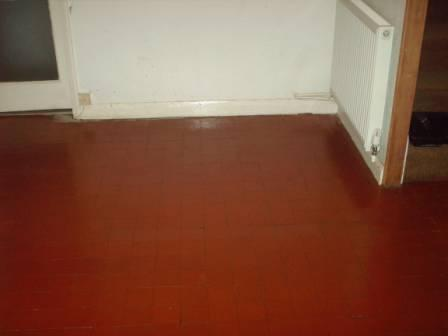 After Picture - A Quarry Tile Floor Restored by Tile Doctor